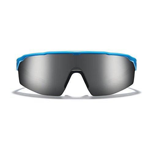 - ROKA SR-1 APEX Advanced Sports Performance Ultra Light Weight Sunglasses Patented Gecko Pad No Slip Ideal Smaller Faces Men Women - Cyan Frame - Dark Arctic Mirror Lens