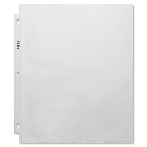 (Business Source Top-Loading 3-Hole Sheet Protectors)