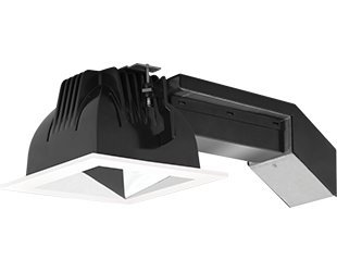 (RAB Lighting RDLED4S20E-WY-S-W 20W Square Remodelers with White Trim and Specular Silver Cone 3000 K)