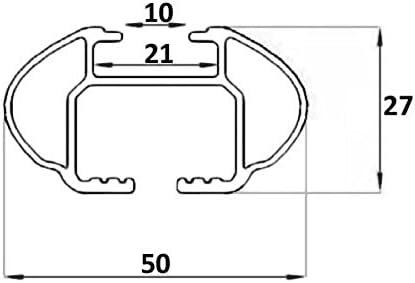 VDP Relingtr/äger Quick Alu kompatibel mit Ford Connect Tourneo ab 14 bis aufliegende Reling