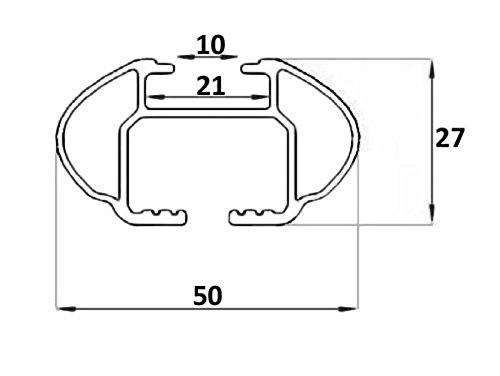 Aurilis Relingtr/äger Quick Alu kompatibel mit Suzuki Vitara ab 2015 bis aufliegende Reling
