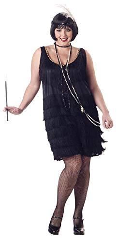 California Costumes Women's Plus-Size Fashion Flapper Plus, Black,