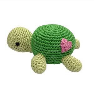 Cheengoo Organic Hand Crocheted Turtle Rattle