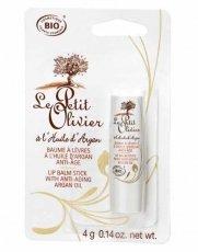 Lip Balm Stick with Anti-aging Organic Argan Oil - 0.14 F...