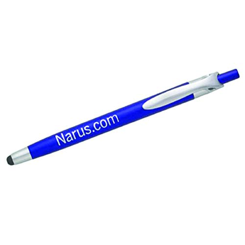 Pencil Guy Promotional Personalized Imprinted Stylus Pens- Blue -100 quantity