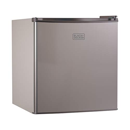 BLACK+DECKER BCRK17V Compact Refrigerator Energy Star Single Door Mini Fridge with Freezer, 1.7 Cubic Ft., VCM (Renewed)