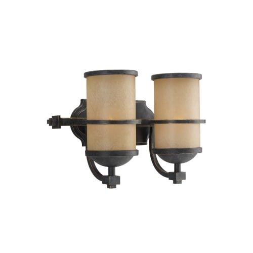 Sea Gull Lighting 44521EN3-845 Roslyn Vanity, 2-Light LED 19 Total Watts, Flemish Bronze