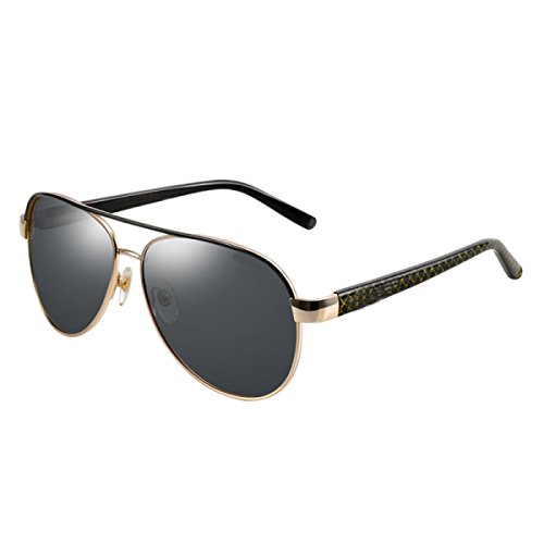 Sol del Tendencia De Conducción Deporte Hombres Gafas De De GoldFrameBlackGray Conductor De Gafas GoldFrameDarkGreen Sol Polarizador para LQQAZY Gafas Colorido Gafas Sol qOpttx