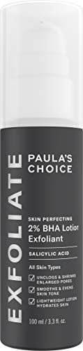 Paula's Choice SKIN PERFECTING 2% BHA Lotion Salicylic Acid Exfoliant, 3.3 Ounce Bottle Facial Exfoliator for Blackheads, Enlarged Pores, Wrinkles & Fine Lines