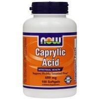 NOW Foods Caprylic Acid 600mg, 100 Softgels ()