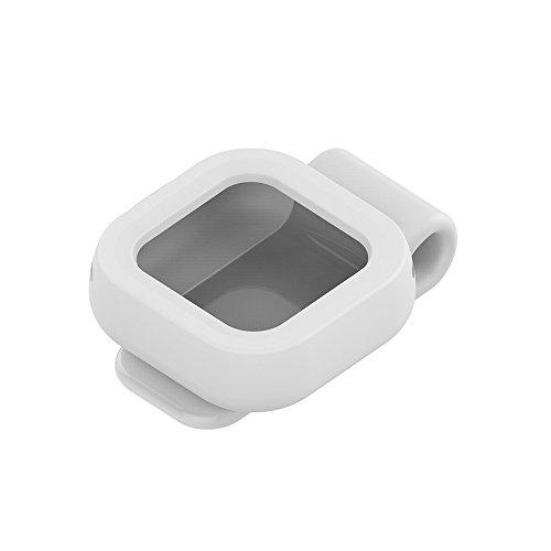 Für GoPro Hero5und GoPro Hero5Session Smart Wireless Fernbedienung Controller Ersatz Clip Halter–ifeeker Soft Silikon Gummi Fall Metall Stahlblech Verschluss Gürtelclip-Halterung, Schutzhülle für  Weiß