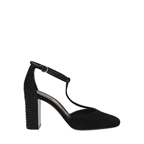 0654159 Femme Noir Talons Ferragamo Suède À Chaussures Salvatore wqTpaSO