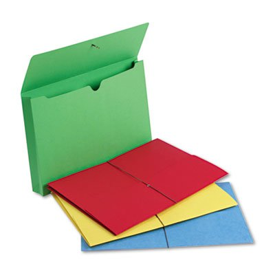 2'' Accordion Expansion Wallet, Elastic Cord, Lgl, Blue/Green/Red/Yellow, 50/Box, Total 50 EA, Sold as 1 Carton