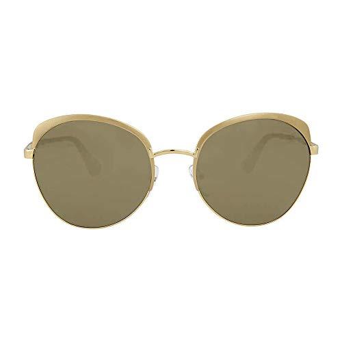 (Prada Women's 0PR 54SS Metallized Pale Gold/Light Brown Gold Mirror One Size )