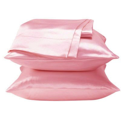 Dreamkingdom Standard Solid Silky Satin Pillow Cases - Pink