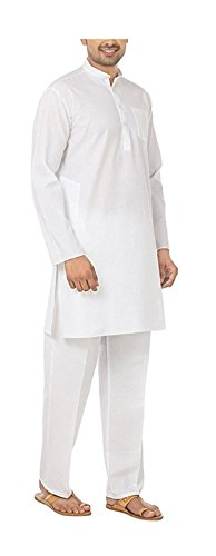 Royal Kurta Men's Fine Cotton Kurta Pyjama Set 46 White by Royal Kurta (Image #2)