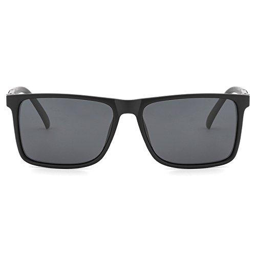 Moda Eyewear Sol Sol polarizada Hombres Oculos de Jusheng Gafas Marco Color de Negro conducción Blue Matteblack de Shades del Vintage Black Gafas Eq0EIa