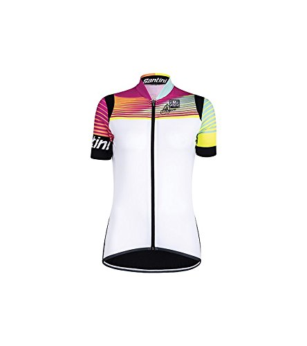 [해외] Santini화이트2016 Anna 2.0 Womens Short Sleeved Cycling Jersey