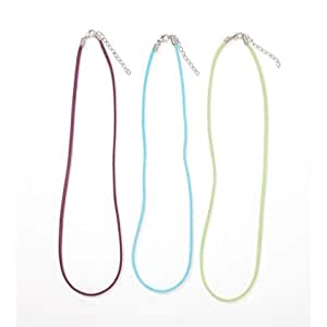 Bulk Buy: Darice DIY Crafts Leather Necklace Cord Assorted Colors Purple, Lime Green, Turquoise 18 in 1994-02 by Darice Bulk Buy