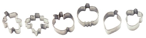 Wilton Harvest 6 Piece Mini Metal Cookie Cutter Set -