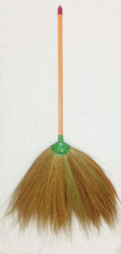 Broom Grass Plastic Handle Natural Color (2 Set/Pack) by Thai OTOP