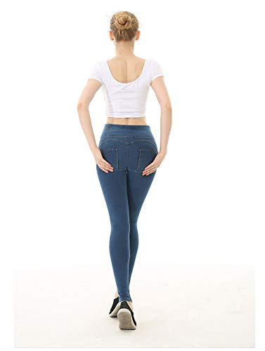 Yoga Con Alta Sportivi Vita Donna Elasticizzati Pantaloni Blue Sijux Da ZWntOA