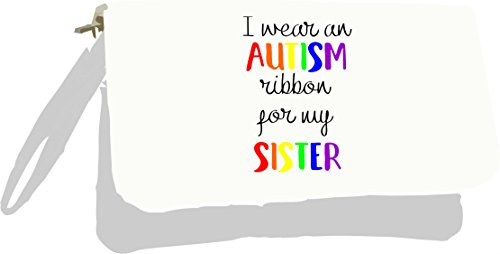 Bag Clutch Autism an Ribbon Wear Silver Metallic My for Sister I Silver RUqgwO