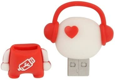 Data Storage 2GB Comouter /& Networking Red Music Man Cartoon Silicone USB Flash Disk Special for All Kinds of Festival Day Gifts
