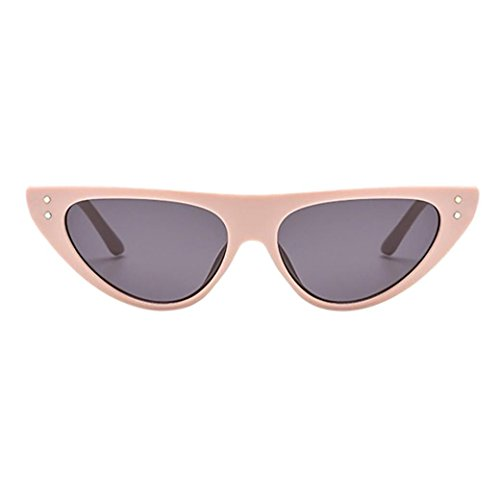 Limsea New Arrival! Retro Vintage Clout Cat Unisex Sunglasses Rapper Oval Shades Grunge ()