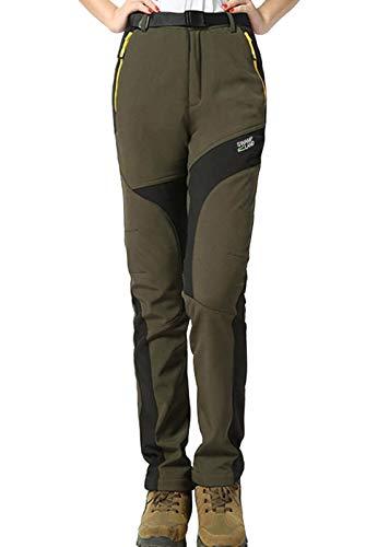 Montagna Pantaloni Alpinismo da Sci Donna Softshell HAINES 01 Pantaloni Verde Escursionismo Impermeabili Invernali Trekking 8gqPFw