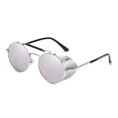 Steampunk Style Round Vintage Side Windproof Sunglasses UV400