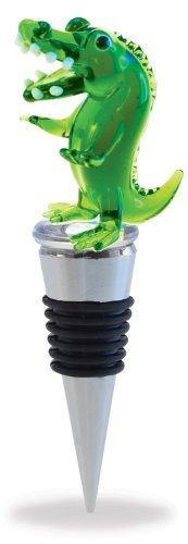 Cheers - Wine Stopper - Glass Alligator