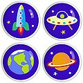 Out Of This World Knob Set by Olive Kids