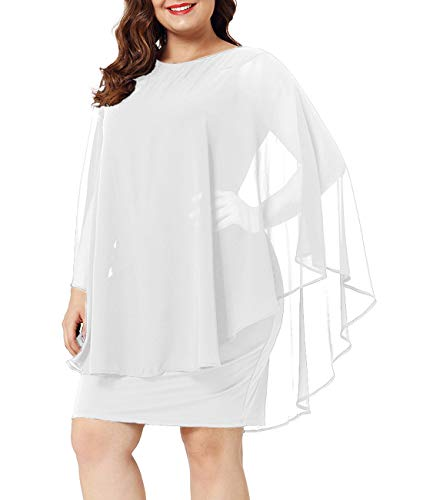Urchics-Womens-Casual-Chiffon-Overlay-Plus-Size-Cocktail-Party-Knee-Length-Dress