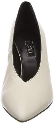 Zapatos Milk Punta Tacón De Para Marfil Silla milk Con 407 Oxitaly Cerrada Mujer gnZ676R