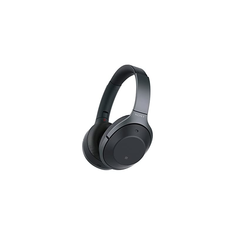 Sony Noise Cancelling Headphones WH1000XM2: Over Ear Wireless Bluetooth Headphones with Microphone - Hi Res Audio and Active Sound Cancellation - Foldable On Ear Headphones with Travel Case - Black