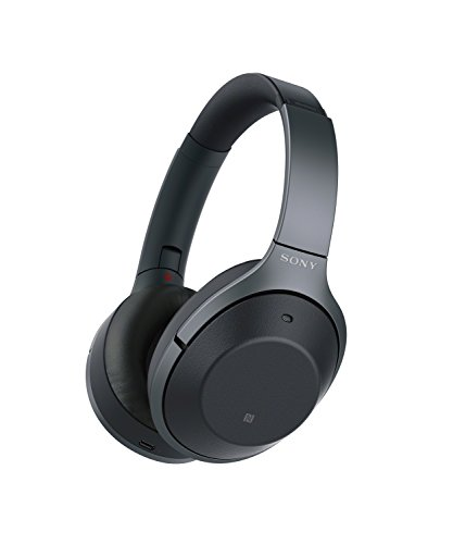 Sony Noise Cancelling Headphones WH1000XM2: Over Ear Wireless Bluetooth Headphones with Case - Black (Driver Sony)