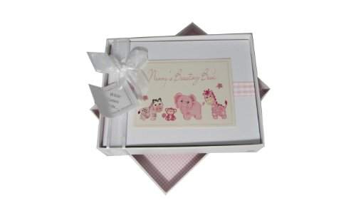- White Cotton Cards Nanny's Boasting Book Photo Album Toys Range (Pink Gingham)