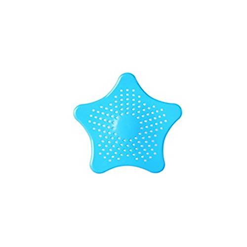 TopLove Starfish Shaped Rubber Sink Strainer Floor Drain Cover Hair Catcher Rubber Shower Trap Basin Filter For Bathroom Kitchen (1, (Basin Trap)