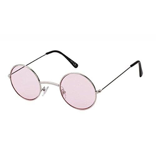 Sonnenbrille Round Lennon-Style 400 UV Metall getönt langer Steg rot rosa lila dunkelrot OYk0VCtlLE