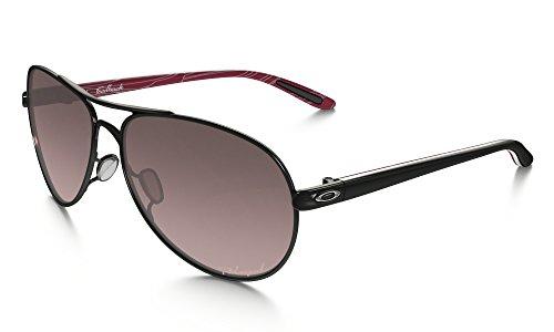 Oakley Feedback Sunglasses Pol BLK/Smokey O/Rose Grad. Pol. & Care Kit - Feedback Oakley