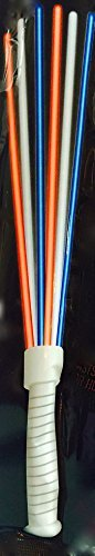 Patriotic July 4th Glow Stick Wand 12 Inch - Red, White & Blue - By GlowPlay ()