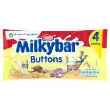 Milkybar Nestle Buttons 4 Pack 80G by Milkybar