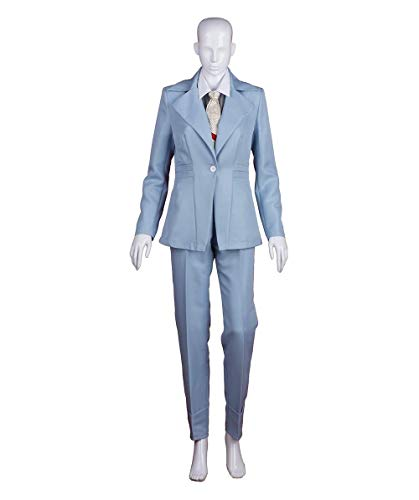 Exclusive! Women's Deluxe Costume for Cosplay Singer Bowie Lt. Blue Party Suit HC-214 ()