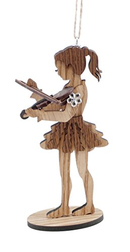 Caffco Little Girl Violin Player Hanging Christmas Ornament