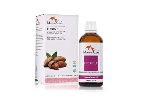 Perineal Massage Oil, Mommy Care Flexible Perineal Massage Oil, Sweet Almond Oil For Pregnancy and Postpartum Recovery...