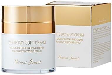 Korean Oil-Free Face Moisturizer -White Day Skin Lightening Cream with Niacinamide, Revitalizing, Whitening, Anti Wrinkle Skin Care by NATURAL FRIEND, 1.76 oz