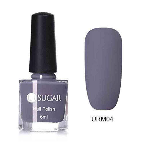 Matte Nail Polish Mirror Long Lasting Nail Art Varnish Manicure URM04