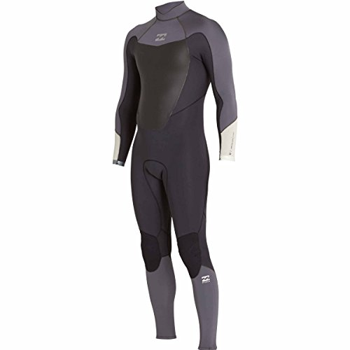 Billabong Men's 3/2 Absolute Comp Back Zip Fullsuit Asphalt - Wetsuit Comp