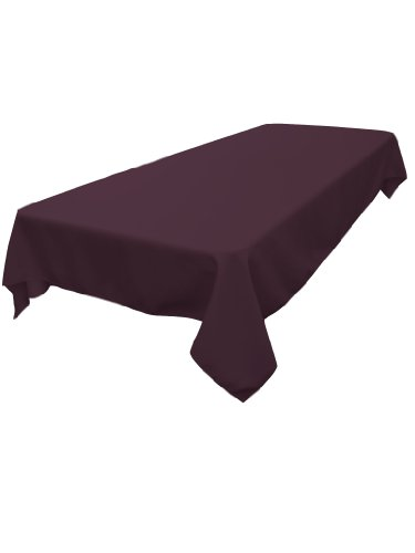La linen polyester poplin rectangular tablecloth 60 by for 102 inch table runners